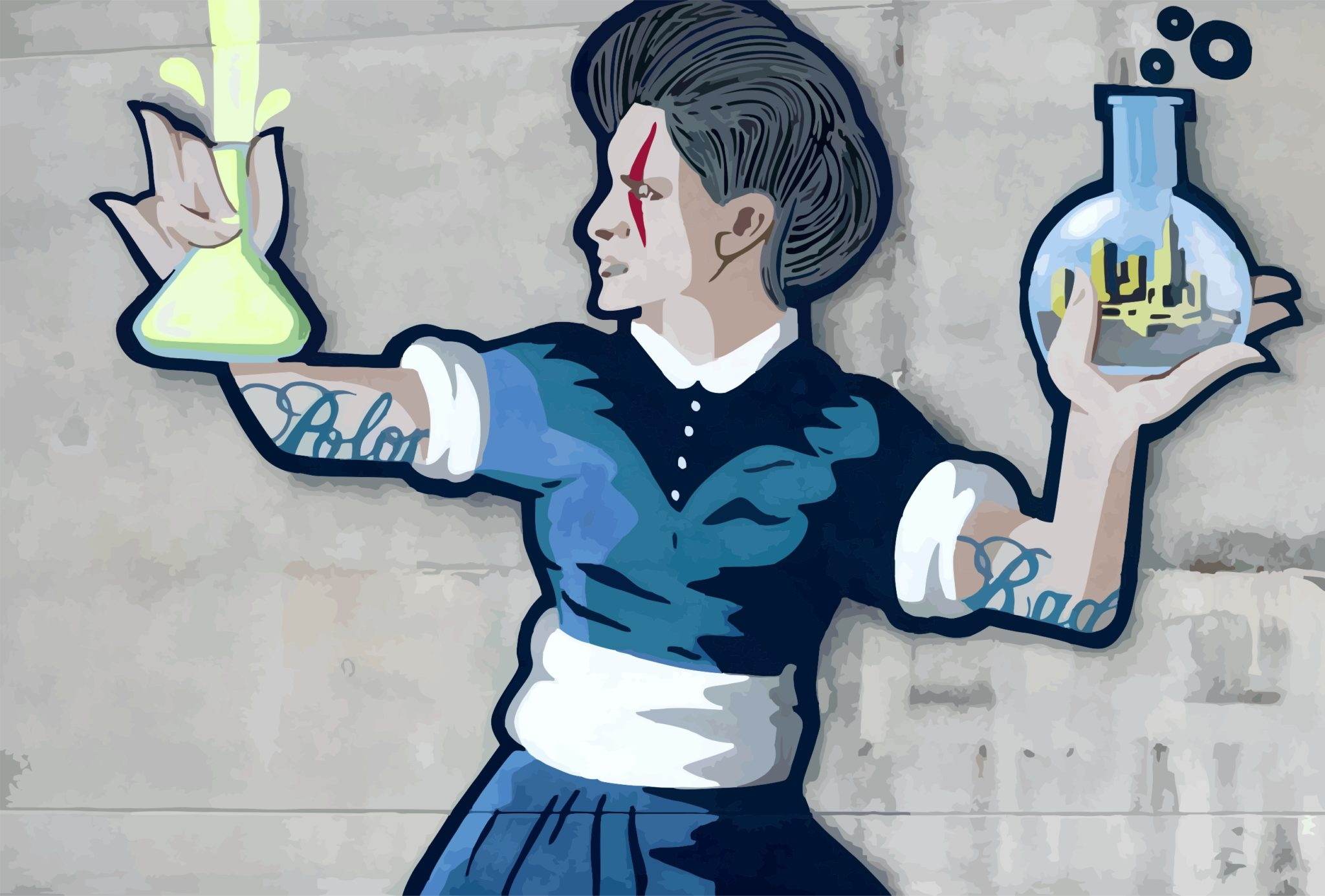 Marie Curie Mural in Warsaw