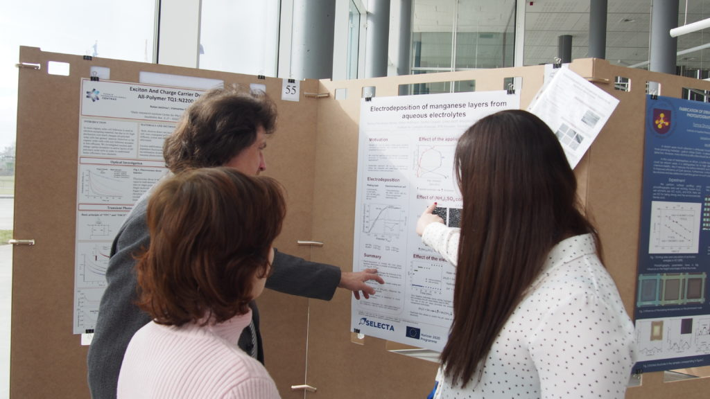 Monica Fernandez Barcia in a poster session at a conference