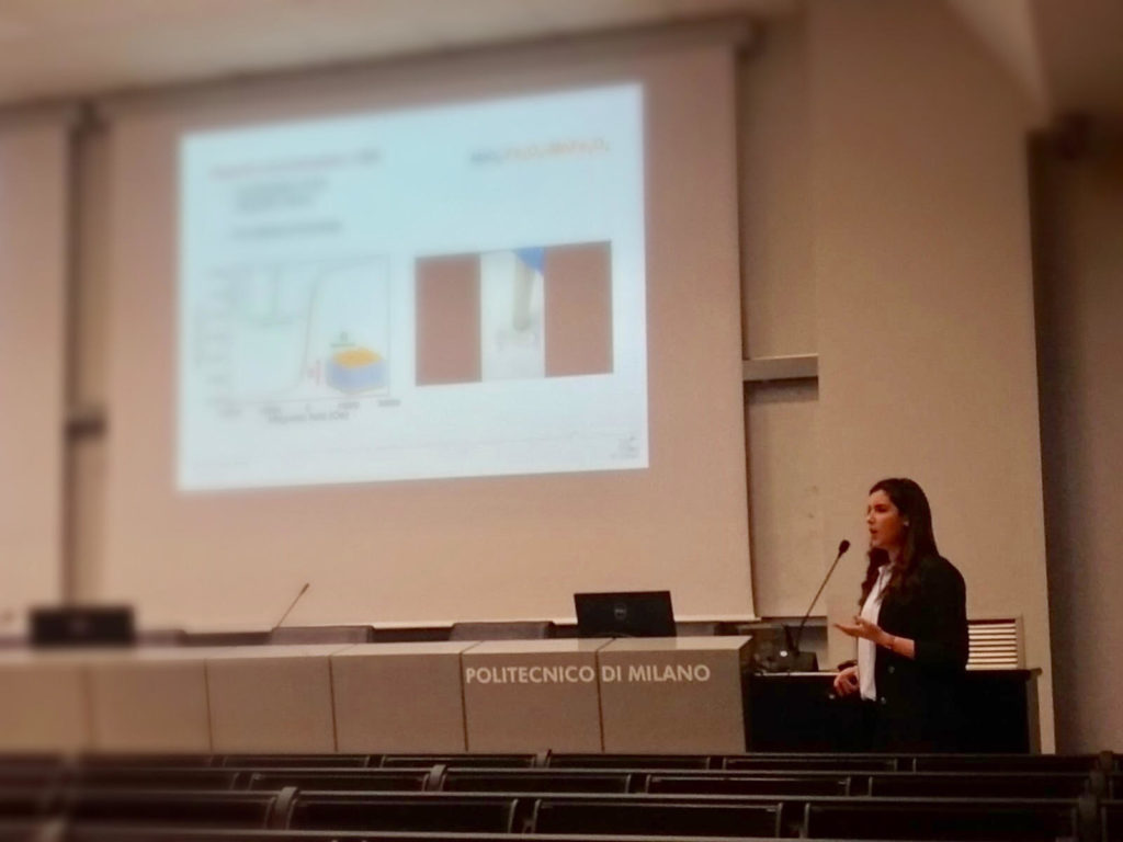 Monica Fernandez Barcia at conference in Milano